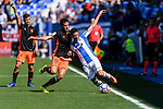 Omar (R) of Club Deportivo Leganes fights for the ball with Dani Parejo of Valencia CF in action during their La Liga match between Club Deportivo Leganes and Valencia CF at the Butarque Municipal Stadium on 25 September 2016 in Madrid, Spain. Photo by Diego Gonzalez Souto / Power Sport Images