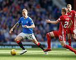 28.09.2018 Rangers v Aberdeen: Scott Arfield and Dean Campbell