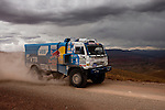Truck racer Airat Mardeev from Rusia driving his Kamaz truck during the 5th stage of the Dakar Rally 2016 in the Bolivian Altiplano.