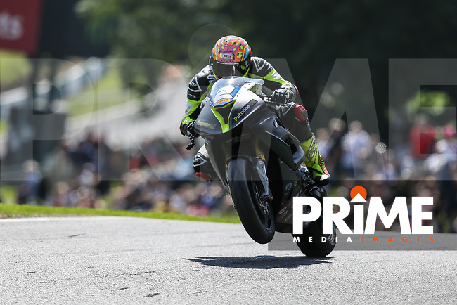 Jordan RUSHBY (2) of the Pirelli National Superstock 1000 Championship in association with Black Horse BMW Alliance Steel Racing team during qualifying at the Bennetts British Superbike Championship Round BSB Round 8 (Saturday) at Cadwell Park Circuit, Louth, England on 18 August 2018. Photo by David Horn.