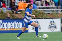Allston, MA - Sunday, May 1, 2016:  Boston Breakers forward Stephanie McCaffrey (9) in a match against the Portland Thorns FC at Jordan Field, Harvard University.