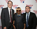 Mark Schweppe, Irene Gandy and Hal Goldberg attends The Broadway League and the Coalition of Broadway Unions and Guilds (COBUG) presents the 9th Annual Broadway Salutes at Sardi's on November , 2017 in New York City.
