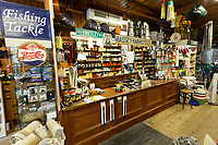 Pictured: Interior view of the Hafod Hardware store in Rhayader, mid Wales, UK. Thursday 05 December 2019.<br /> Re: Shop owner Thomas Lewis Jones has made a Christmas advert starring Arthur Lewis Jones, his two-year-old son costing only £100.<br /> Hafod Hardware in Rhayader, Powys, has been making festive adverts for several years.<br /> This year's advert sees Arthur setting up the shop along with members of his family.