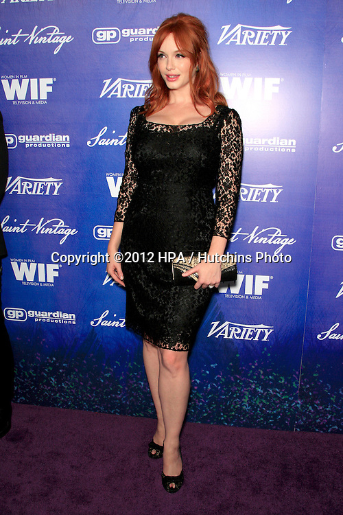 LOS ANGELES - SEP 21:  Christina Hendricks arrives at the Variety and Women in Film Pre-Emmy Event at Scarpetta on September 21, 2012 in Beverly Hills, CA