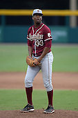 Florida State Seminoles designated hitter / relief pitcher Jameis Winston (44) during a game against the South Florida Bulls on March 5, 2014 at Red McEwen Field in Tampa, Florida.  Florida State defeated South Florida 4-1.  (Copyright Mike Janes Photography)