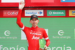 Bauke Mollema (NED) Trek-Segafredo wins the days combativity award at the end of Stage 11 of the La Vuelta 2018, running 207.8km from Mombuey to Ribeira Sacra. Luintra, Spain. 5th September 2018.<br /> Picture: Unipublic/Photogomezsport | Cyclefile<br /> <br /> <br /> All photos usage must carry mandatory copyright credit (&copy; Cyclefile | Unipublic/Photogomezsport)