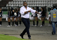 MANIZALES - COLOMBIA, 07-04-2017: Hubert Bodhert técnico de Jaguares FC gesticula durante partido contra Once Caldas por la fecha 12 de Liga Águila I 2017 jugado en el estadio Palogrande de la ciudad de Manizales. /Hubert Bodhert  coach of Jaguares FC gestures during match for the date 12 of the Aguila League I 2017 played at Palogrande stadium in Manizales city. Photo: VizzorImage / Santiago Osorio / Cont