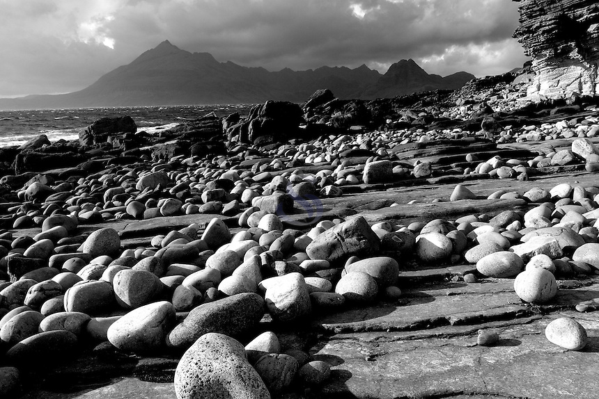 The Black Cuillin and Loch Scavaig from Elgol, Isle of Skye, Inner Hebrides, Highland