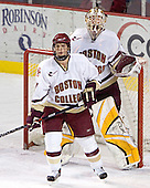 Mike Brennan (Joe Pearce) - The Boston College Eagles and Ferris State Bulldogs tied at 3 in the opening game of the Denver Cup on Friday, December 30, 2005, at Magness Arena in Denver, Colorado.  Boston College won the shootout to determine which team would advance to the Final.