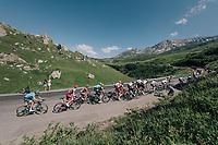 group of race favourites up the Comet de Roselend<br /> <br /> Stage 11: Albertville > La Rosière / Espace San Bernardo (108km)<br /> <br /> 105th Tour de France 2018<br /> ©kramon