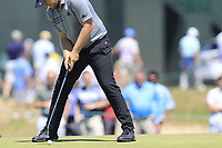 Tyrrell Hatton (ENG) putts on the 13th green during Thursday's Round 1 of the 118th U.S. Open Championship 2018, held at Shinnecock Hills Club, Southampton, New Jersey, USA. 14th June 2018.<br /> Picture: Eoin Clarke | Golffile<br /> <br /> <br /> All photos usage must carry mandatory copyright credit (&copy; Golffile | Eoin Clarke)