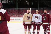 Christopher Brown (BC - 10), Michael Kim (BC - 4), JD Dudek (BC - 15) - The Boston College Eagles practiced at Fenway on Friday, January 6, 2017, in Boston, Massachusetts.