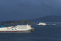 Bluebridge and Interislander ferries in Wellington Harbour, New Zealand on Friday, 20 September 2019. Photo: Dave Lintott / lintottphoto.co.nz