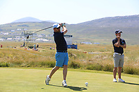 Mark Murnane playing with Chris Paisley (ENG) during the ProAm Day of the 2018 Dubai Duty Free Irish Open, Ballyliffin Golf Club, Ballyliffin, Co Donegal, Ireland.<br /> Picture: Golffile | Jenny Matthews<br /> <br /> <br /> All photo usage must carry mandatory copyright credit (&copy; Golffile | Jenny Matthews)