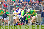 Kevin Orpen Saint Brendans in action against Jonathon Silles Lixnaw in the Senior County Hurling Final at Austin Stack Park Tralee on Sunday.