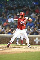 TEMPORARY UNEDITED FILE:  Image may appear lighter/darker than final edit - all images cropped to best fit print size.  <br /> <br /> Under Armour All-American Game presented by Baseball Factory on July 20, 2018 at Wrigley Field in Chicago, Illinois.  (Mike Janes/Four Seam Images) Tyler Callihan is a third baseman from Providence High School in Neptune Beach, Florida committed to South Carolina.
