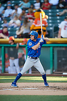 Ty Kelly (1) of the Las Vegas 51s bats against the Salt Lake Bees at Smith's Ballpark on May 7, 2018 in Salt Lake City, Utah. The 51s defeated the Bees 10-8. (Stephen Smith/Four Seam Images)