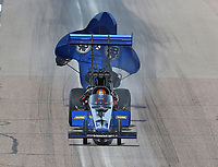 Feb 24, 2019; Chandler, AZ, USA; NHRA top fuel driver Cameron Ferre during the Arizona Nationals at Wild Horse Pass Motorsports Park. Mandatory Credit: Mark J. Rebilas-USA TODAY Sports