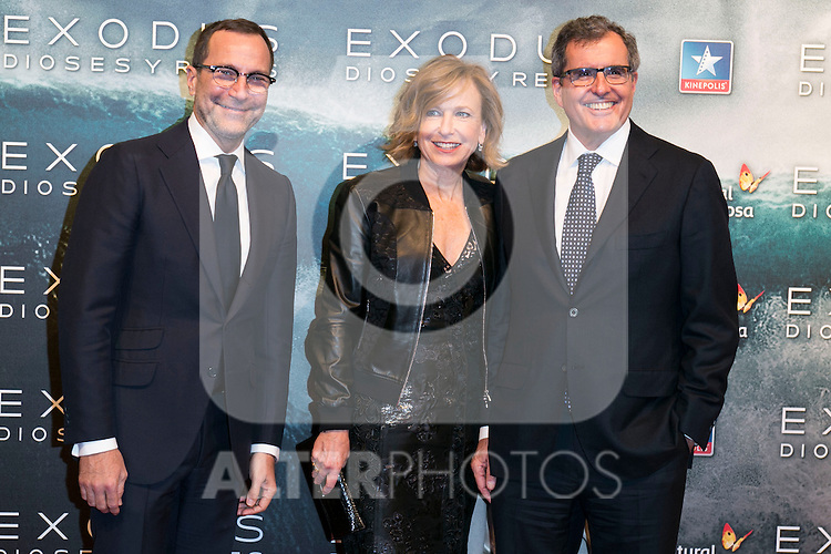 "Us Ambassador in Madrid attend the Premiere of the movie ""EXODUS: GODS AND KINGS"" at callao Cinema in Madrid, Spain. December 4, 2014. (ALTERPHOTOS/Carlos Dafonte)"
