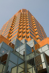 Exterior of the Koin Tower building, close-up, Portland, Oregon