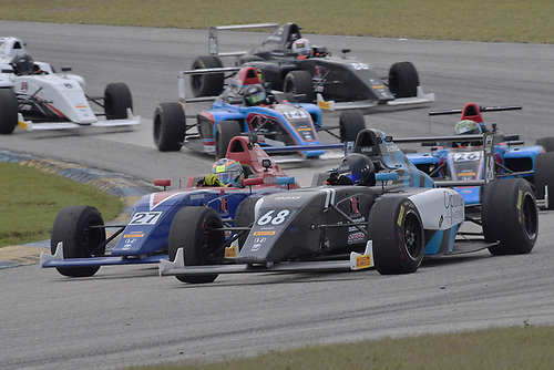 2017 F4 US Championship<br /> Rounds 1-2-3<br /> Homestead-Miami Speedway, Homestead, FL USA<br /> Sunday 9 April 2017<br /> #68 of Jacob Loomis dualing for postion with #27 of Austin Kaszuba<br /> World Copyright: Dan R. Boyd/LAT Images