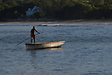 A local fisherman in Tamarin Bay, Mauritius.