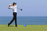 Gregory Bourdy (FRA) during the first round of the NBO Open played at Al Mouj Golf, Muscat, Sultanate of Oman. <br /> 15/02/2018.<br /> Picture: Golffile | Phil Inglis<br /> <br /> <br /> All photo usage must carry mandatory copyright credit (&copy; Golffile | Phil Inglis)