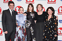 LONDON, UK. September 10, 2018: Stephen McGann, Laura main, Charlotte Ritchie &amp; Linda Bassett at the TV Choice Awards 2018 at the Dorchester Hotel, London.<br /> Picture: Steve Vas/Featureflash