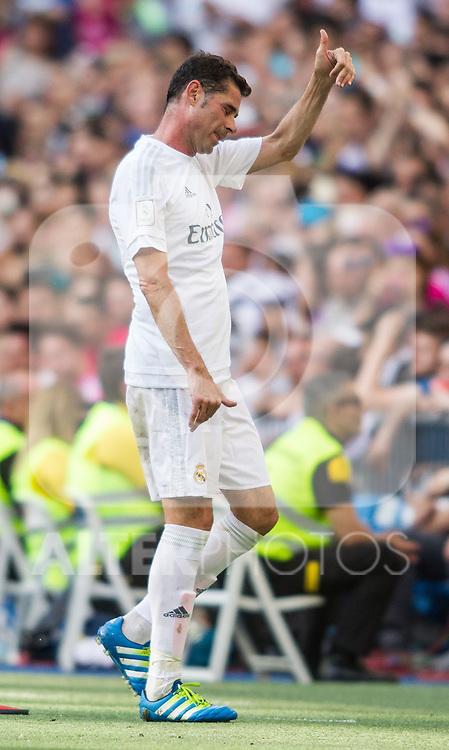 Fernando Hierro during the Corazon Classic Match 2016 at Estadio Santiago Bernabeu between Real Madrid Legends and Ajax Legends. Jun 5,2016. (ALTERPHOTOS/Rodrigo Jimenez)
