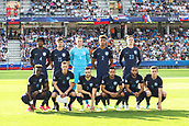 June 19th 2017, Kielce, Poland; UEFA European U-21 football championships, England versus Slovakia; England team line-up shows Nathaniel Chalobah (ENG), John Swift (ENG), Jordan Pickford (ENG), Mason Holgate (ENG), Alfie Mawson (ENG), Tammy Abraham (ENG), James Ward-Prowse (ENG), Calum Chambers (ENG), Lewis Baker (ENG), Nathan Redmond (ENG), Ben Chilwell (ENG)