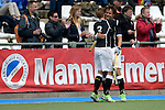 GER - Mannheim, Germany, May 16: During the whitsun tournament boys hockey match between Germany (black) and The Netherlands (orange) on May 16, 2016 at Mannheimer HC in Mannheim, Germany. Final score 4-3 (HT 2-0). (Photo by Dirk Markgraf / www.265-images.com) *** Local caption *** Hannes Mueller #3 of Germany (U16), Luca Wolff #19 of Germany (U16)
