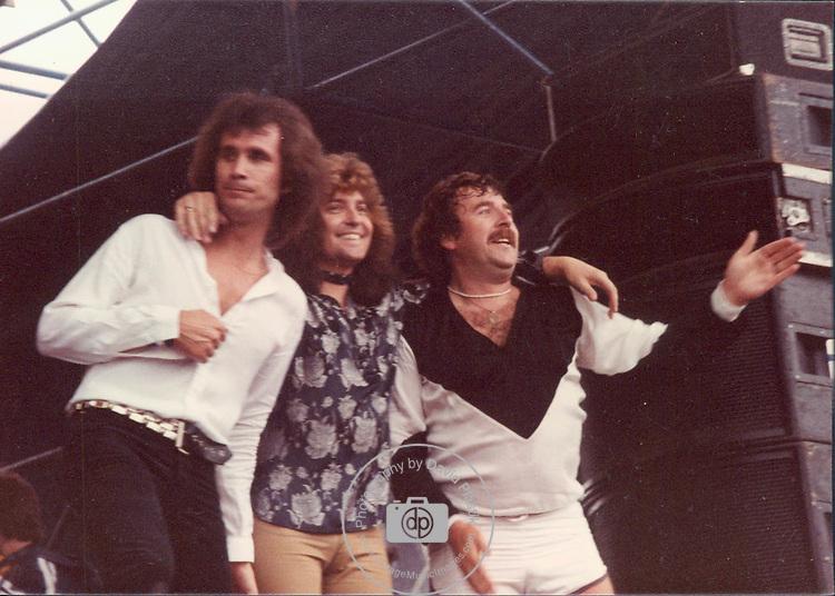 Uriah Heep, Pete Goalby, Bob Daisley, Lee Kerslake, Castle Donnington Monsters of Rock 1982 Donnington 1982