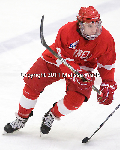 Locke Jillson (Cornell - 8) - The visiting Cornell University Big Red defeated the Harvard University Crimson 2-1 on Saturday, January 29, 2011, at Bright Hockey Center in Cambridge, Massachusetts.