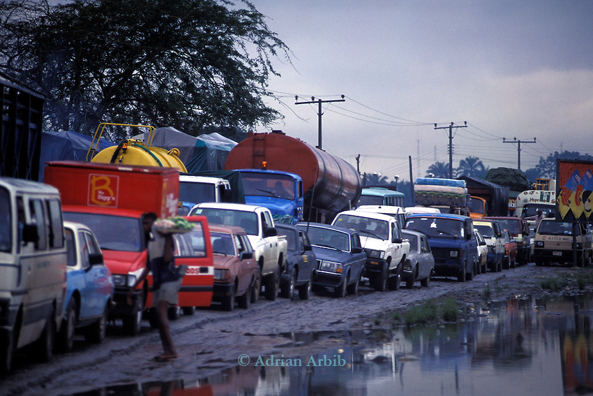 Traffic jam (Go slow) in Port Harcourt, Delta State, Nigeria
