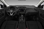 Stock photo of straight dashboard view of 2019 Nissan Rogue-sport S 5 Door SUV Dashboard
