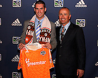 Will Bruin and Dominic Kinnear at the 2011 MLS Superdraft, in Baltimore, Maryland on January 13, 2010.