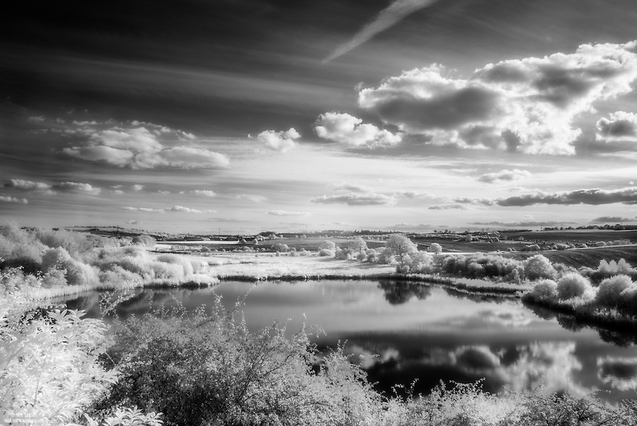 Infrared View of Carr Vale Flash From the Peter Fidler Nature Reserve