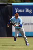 Daytona Cubs outfielder Albert Almora (6) during a game against the Tampa Yankees  on April 13, 2014 at George M. Steinbrenner Field in Tampa, Florida.  Tampa defeated Daytona 7-3.  (Mike Janes/Four Seam Images)