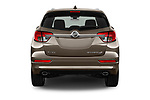 Straight rear view of 2016 Buick Envision Premium-II-AWD 5 Door SUV Rear View  stock images