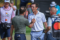 Francesco Molinari (ITA) shakes hands with Billy Horschel (USA) following round 4 of the Arnold Palmer Invitational at Bay Hill Golf Club, Bay Hill, Florida. 3/10/2019.<br /> Picture: Golffile | Ken Murray<br /> <br /> <br /> All photo usage must carry mandatory copyright credit (© Golffile | Ken Murray)