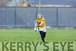 Kerrry's keeper Robyn White take her kick out against Waterford in the LGFA National football league in Strand Road on Saturday.