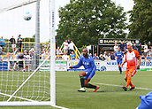 June 17th 2017, Gander Green Lane, Sutton, England; Football Charity Match; Chelsea Legends versus Rangers Legends; Chelsea claw a goal back, 4-1 Rangers