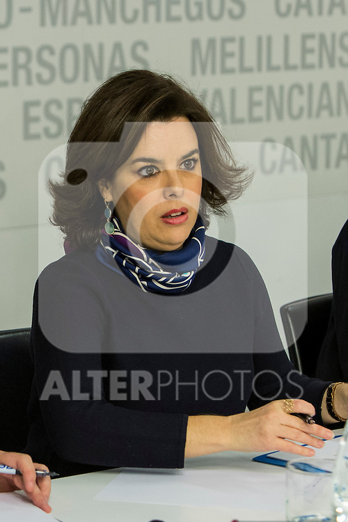 Spain's Soraya Saez de Santamaria the Popular Party's national executive committee in Madrid, Spain. January  14, 2017. (ALTERPHOTOS/Rodrigo Jimenez)