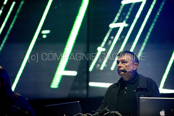 German musician and composer Karl Bartos in concert at the Sinner's Day festival (Belgium, 30/10/2011)