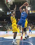 10.02.2018, EWE Arena, Oldenburg, GER, BBL, EWE Baskets Oldenburg vs Rockets Erfurt, im Bild<br /> Isaiah PHILMORE (EWE Baskets Oldenburg #31)<br /> Frantz MASSENNAT (EWE Baskets Oldenburg #10)<br /> Filip STANIC (Rockets Erfurt #65 )<br /> Foto &copy; nordphoto / Rojahn