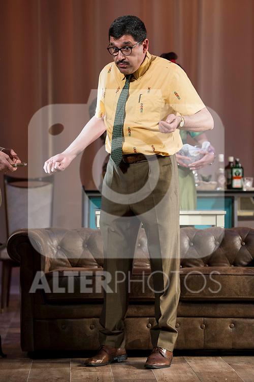 """Jose Luis Patiño during theater play of """"Una gata sobre un tejado de Cinc caliente"""" at Reina Victoria theater in Madrid, Spain. March 15, 2017. (ALTERPHOTOS/BorjaB.Hojas)"""