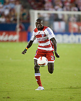 FC Dallas forward Dominic Oduro (25) advances the ball.  New England Revolution defeated FC Dallas 3-2 to capture the 2007 Lamar Hunt U.S. Open Cup at Pizza Hut Park in Frisco, TX on October 3, 2007.