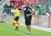 06 October 2012: Toronto FC head coach Paul Mariner shouts out to the pitch during an MLS game between D.C. United and Toronto FC at BMO Field in Toronto, Ontario..D.C. United won 1-0..