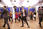"""Bobby Conte Thornton and cast during the open press rehearsal for """"A Bronx Tale - The New Musical""""  at the New 42nd Street Studios on October 21, 2016 in New York City."""
