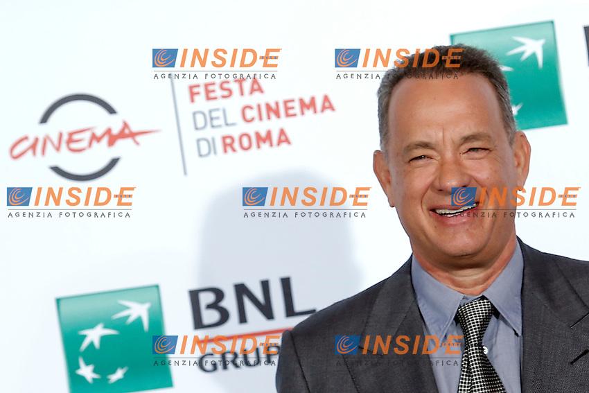 Tom Hanks<br /> Roma 13-10-2016. Festa del Cinema di Roma XI edizione<br /> Rome 13th October 2016. Rome Film Fest XI edition.<br /> Foto Samantha Zucchi Insidefoto